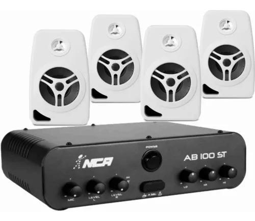Som ambiente amplificador ll nca ab100 st+4 caixa orion 220w