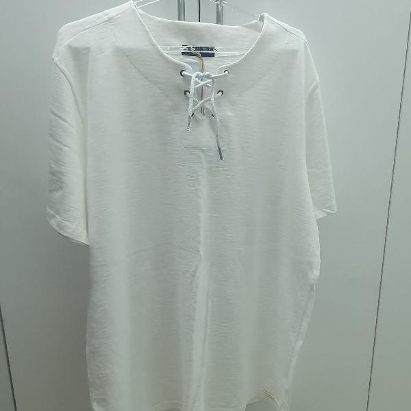 Blusa de malha masculina branca