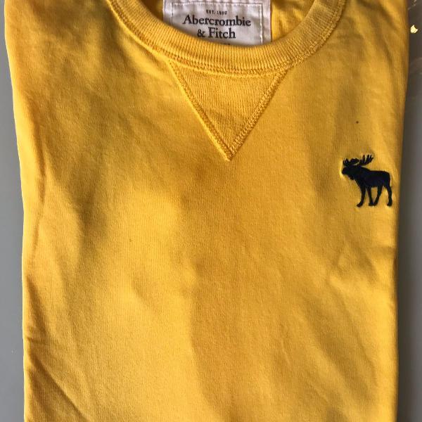 Blusa malha amarela abercrombie