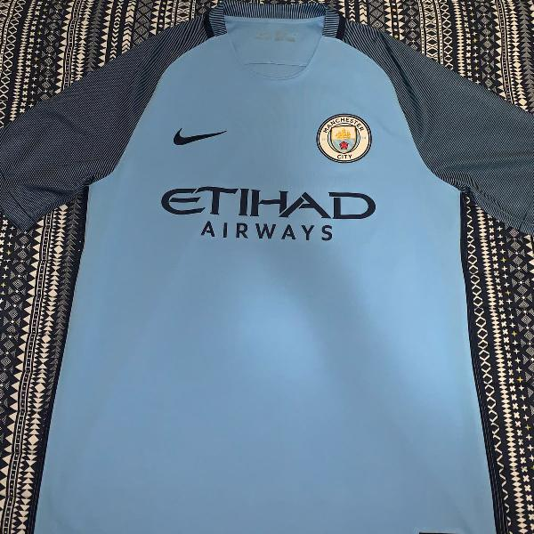 Camisa manchester city 16/17 home nike (tamanho m)
