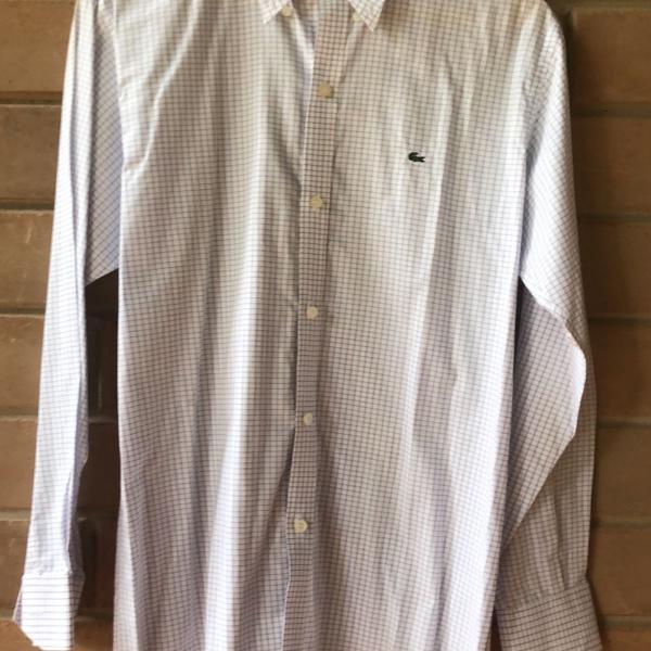 Camisa masculina xadrez lacoste tam 38