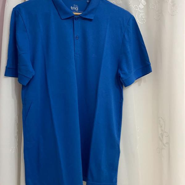 Camisa polo azul tng