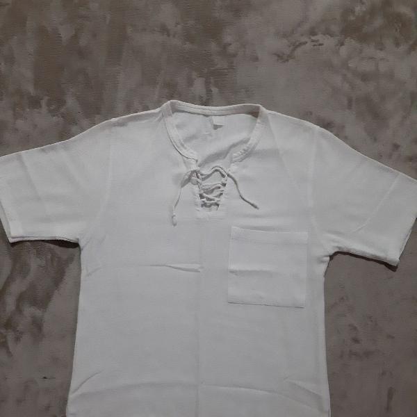 Camiseta algodao cru.