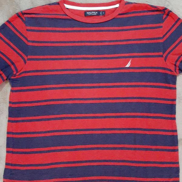 Camiseta algodão listrada