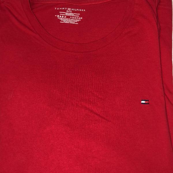 Camiseta manga longa tommy hilfiger