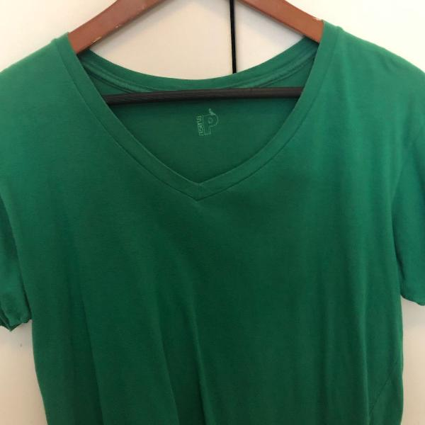 Camiseta reserva verde decote v tamanho p