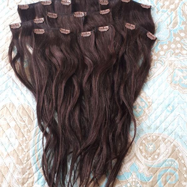 Extensão de cabelo tic tac