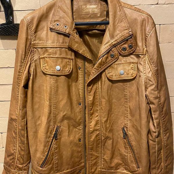 Jaqueta couro sintético - masculino