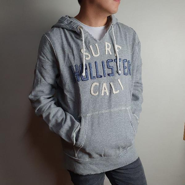 Moletom canguru hollister oversized