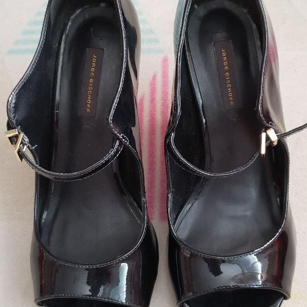 Peep toe preto jorge bischoff tamanho 35