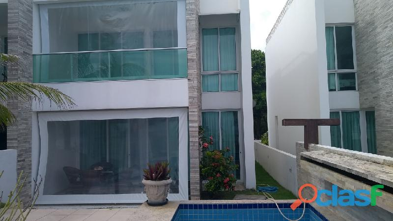 Praia de ipioca otima casa triplex mobiliada piscina
