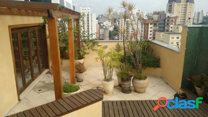 Cobertura: 250m², 3 dormitórios e 3 vagas - pinheiros
