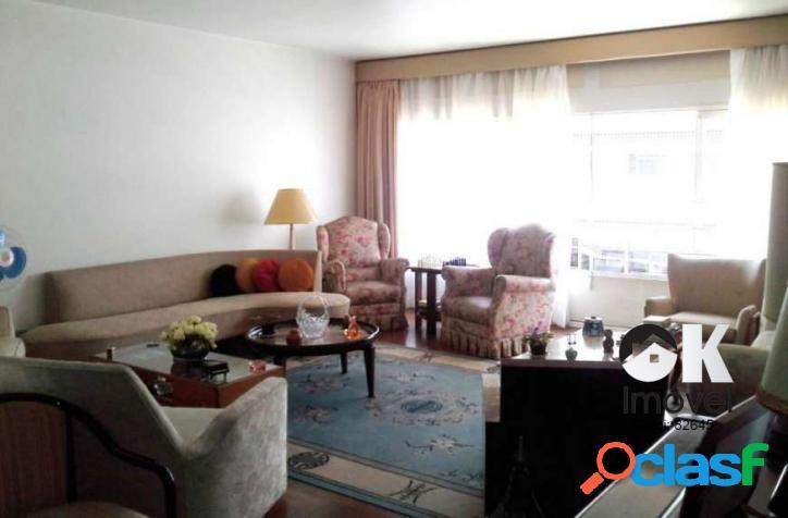 Apartamento: 188m², 3 dormitórios e 1 vaga – higienópolis