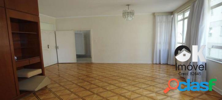 Apartamento: 152m², 3 dormitórios e 1 vaga – higienópolis