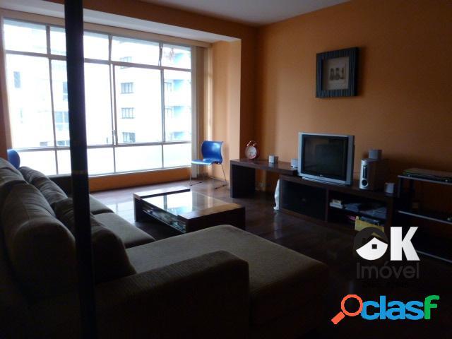 Apartamento: 174m², 4 dormitórios e 1 vaga – higienópolis