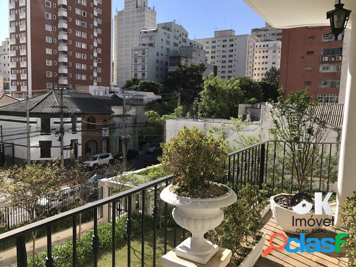 Venda - rua padre joão manuel: 251m², 3 suítes e 2 vagas – jardins