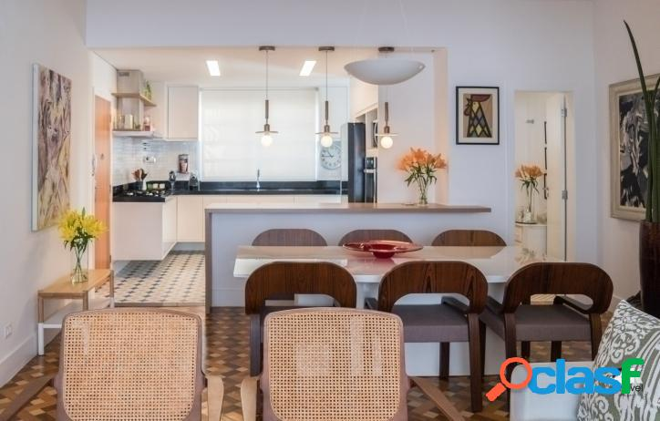 Apartamento reformado: 150m², 3 quartos e 1 vaga – higienópolis