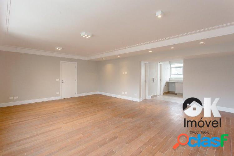 Apartamento reformado: 135m², 3 quartos e 1 vaga – com terraço