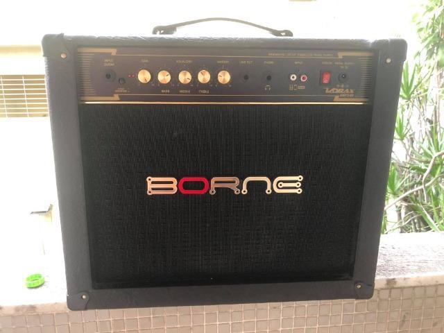 Amplificador Cubo P/ Guitarra Borne Vorax 1050 Preto 50w