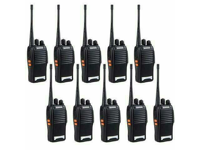 Kit baofeng 10 unidade rádio comunicador walktalk bf-777s