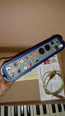 Placa interface áudio usb m- áudio fast track pro