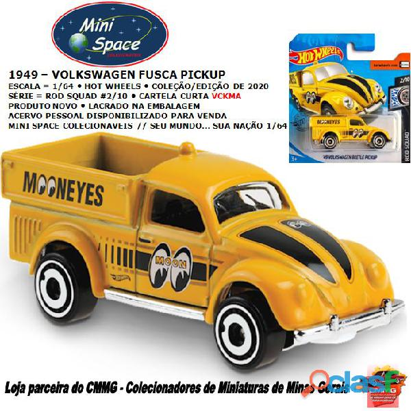 Hot wheels 1949 volkswagen beetle/fusca pickup amarelo 1/64