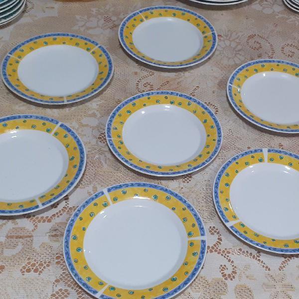 7 pratos porcelana nacional para sobremesa