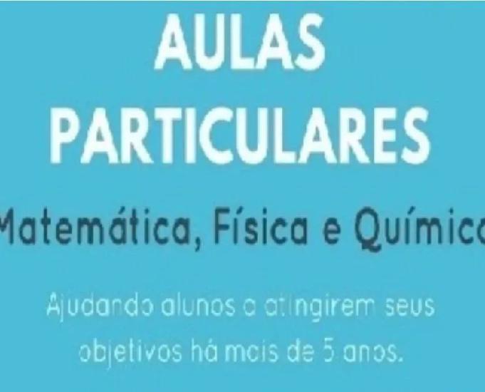 Aulas particulares matemática, física e química