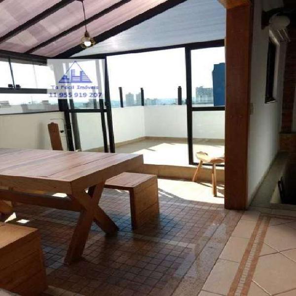 Apartamento cobertura duplex para venda em santa maria são