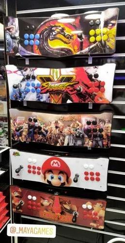 Arcade fliperama portáteis + de 23 mil jogos- controle