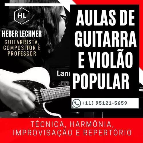 Aulas de guitarra e violão popular