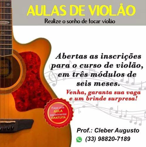 Aulas de música / violão / presencial /