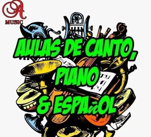 Aulas à domicílio de canto,teclado e espanhol