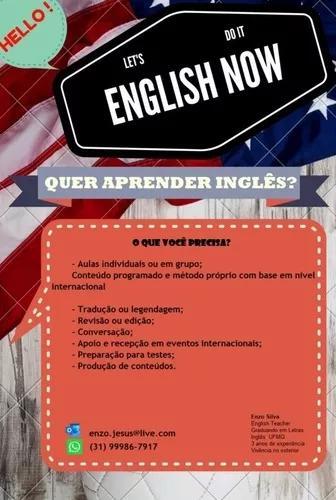 Aulas particulares de inglês e afins