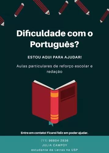 Aulas particulares de português: reforço e pré-vestibular