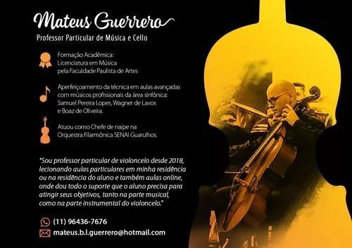 Aulas particulares de violoncelo