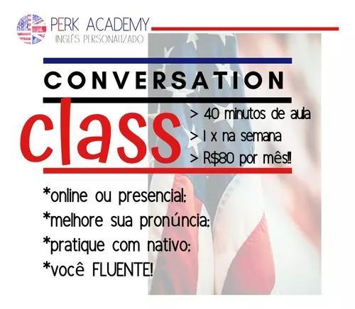 Conversation class - aula de conversação