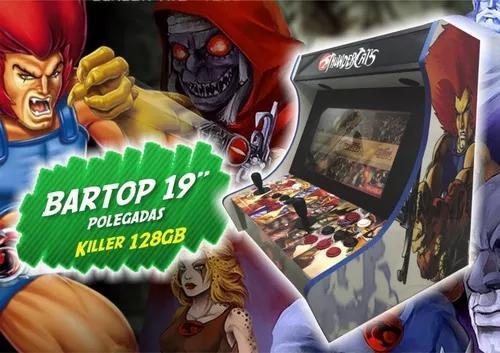 Fliperama bartop 20 pol killer 23 mil jogos malvadeza.