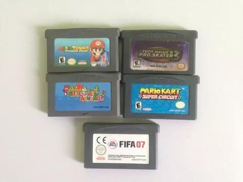 Kit com 5 jogos para game boy advance
