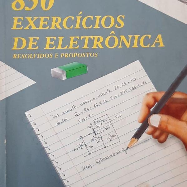 Livro 850 exercícios de eletrônica ed érica