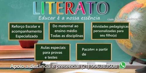 Reforço escolar e alfabetização
