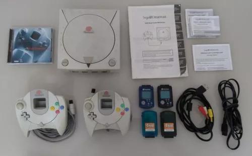 Sega dreamcast + 2 controles originais + acessórios