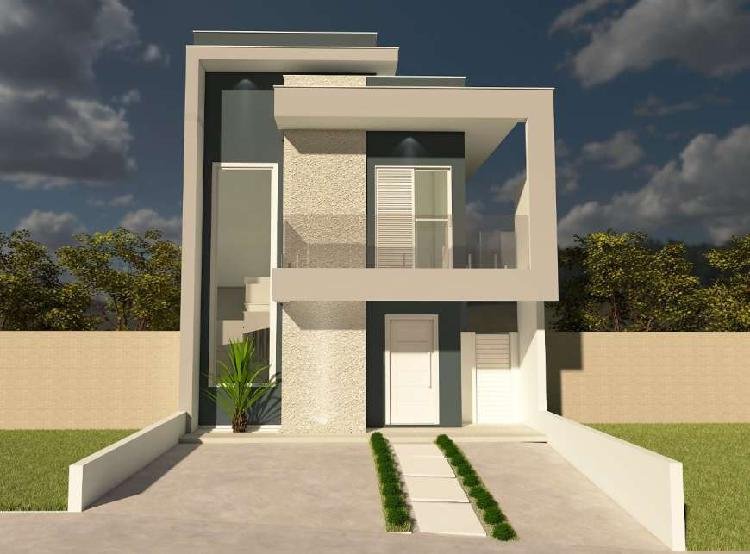 Terreno + construção em condomínio de sorocaba, 90m²