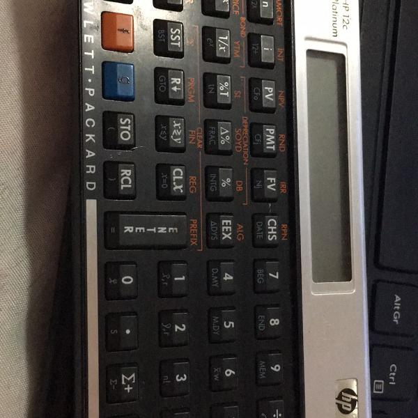 Calculadora ho 12c platinum
