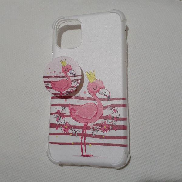 Capinha iphone 11 flamingo