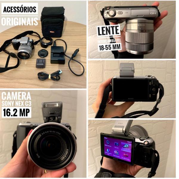 Câmera sony nex c3 16.2mp