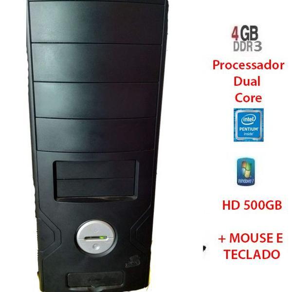 Cpu dual core / 4gb ddr3 / hd 500 gb completo pronto para