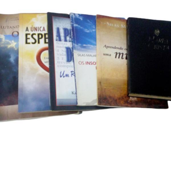 Lote c/ 6 livros evangélicos usados