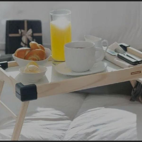 Mesa café da manhã bandeja
