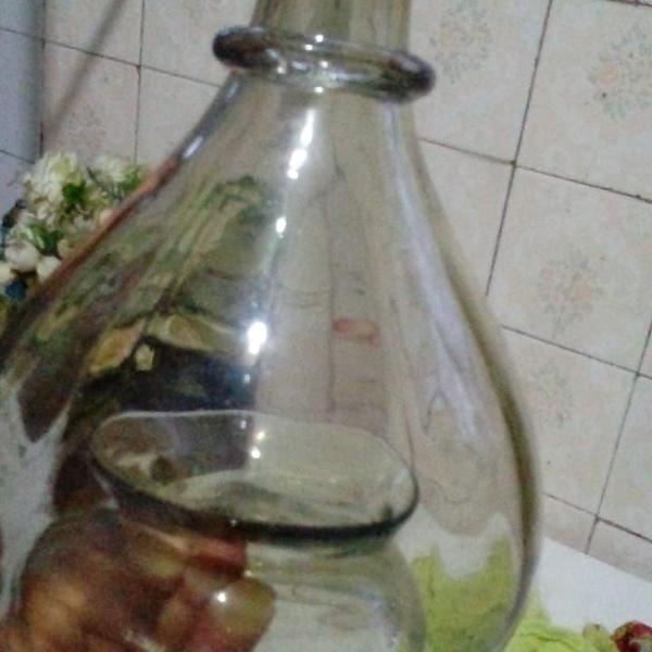 Mosqueiro antigo e raro pega moscas em vidro - ano 1900-